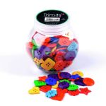 BP005 Jar of Craft Buttons: Shapes: Pack of 3